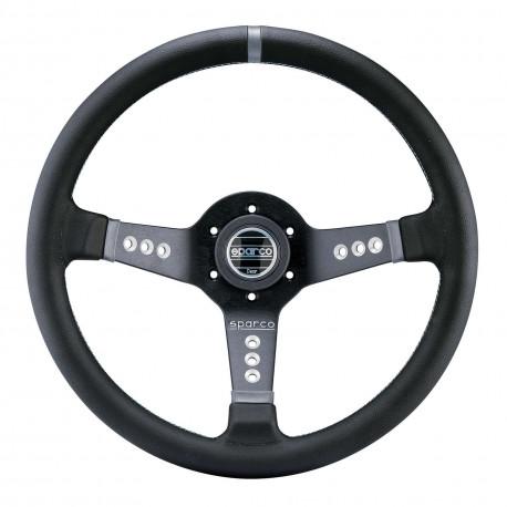 steering wheels 3 spokes steering wheel Sparco L777, 350mm Leather, 63mm   races-shop.com