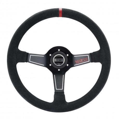 steering wheels 3 spokes steering wheel Sparco L575, 350mm suede, 63mm   races-shop.com