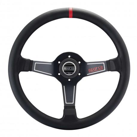 steering wheels 3 spokes steering wheel Sparco L575, 350mm Leather, 63mm   races-shop.com