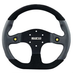 3 spokes steering wheel Sparco L999, 330mm alcantara, Flat