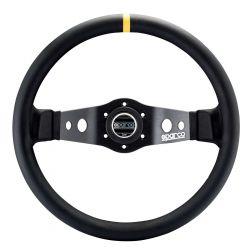 2 spokes steering wheel Sparco R215, 350mm Leather, 90mm