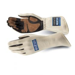 Race gloves Sparco Land Classic FIA white