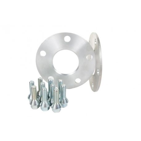 For specific model Set of 2psc wheel spacers for Skoda - 5mm (with long bolt), 4x100, 57,1mm | races-shop.com