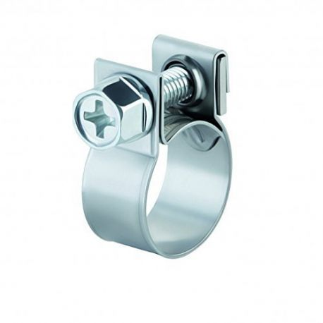 Hose clamps and sleeves Stainless steel clamp mini W4 - different diameters | races-shop.com