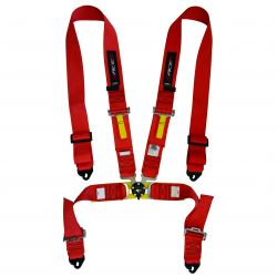 FIA 4 point safety belts RACES, red