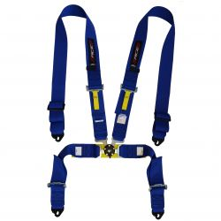 FIA 4 point safety belts RACES, blue
