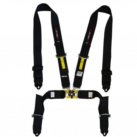 Seat belts and accessories FIA 4 point safety belts RACES, black | races-shop.com