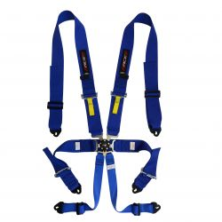 FIA 6 point safety belts RACES, blue