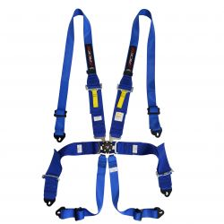 FIA 6 point safety belts RACES pre HANS, blue