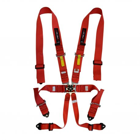Seat belts and accessories FIA 6 point safety belts RACES, red | races-shop.com