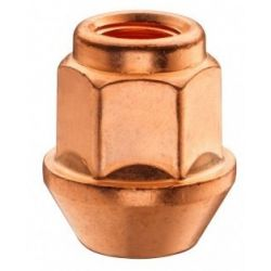 Open copper coated wheel nuts RACES professional, different