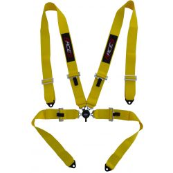 "4 point safety belts RACES 3"" (76mm), yellow"