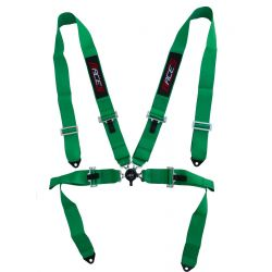 "4 point safety belts RACES 3"" (76mm), green"