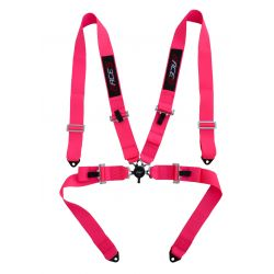 "4 point safety belts RACES 3"" (76mm), pink"