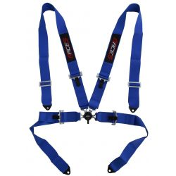 "4 point safety belts RACES 3"" (76mm), blue"