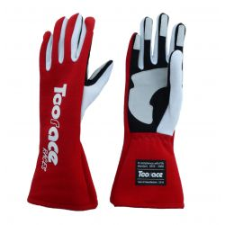 RACES TRST2 gloves with FIA approval (inside stitching) RED
