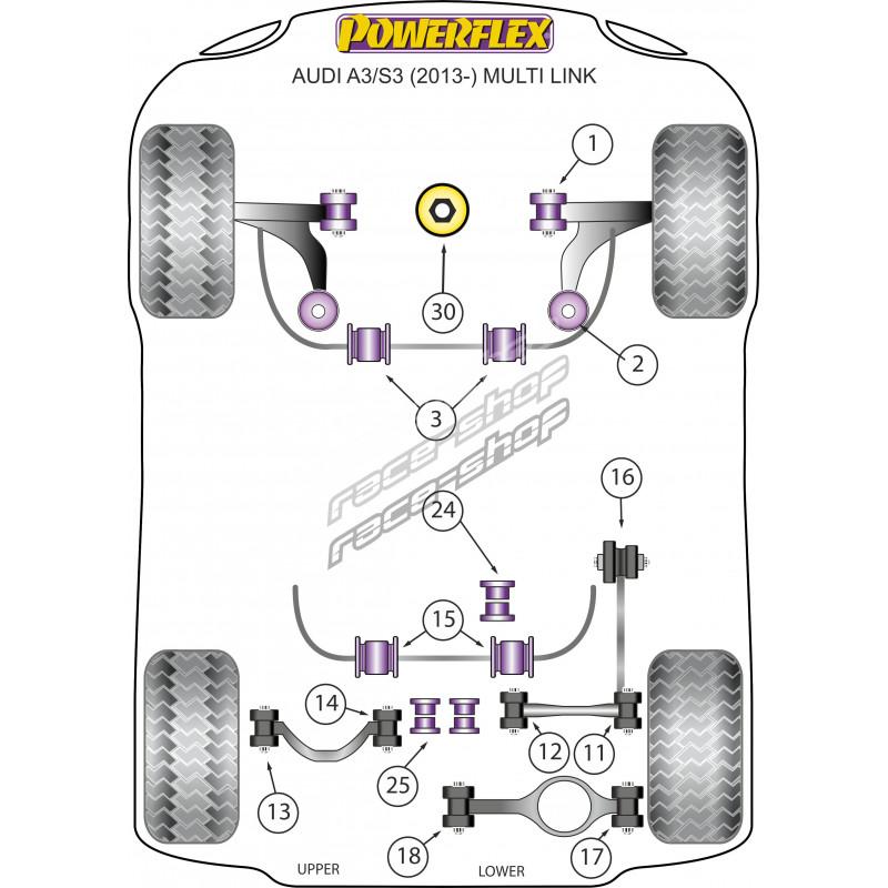 powerflex lower engine mount  large  insert audi a3  s3 mk3