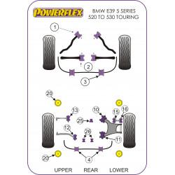 Powerflex Rear Subframe Mounting Bush Insert BMW E39 5 Series 520 to 530 Touring