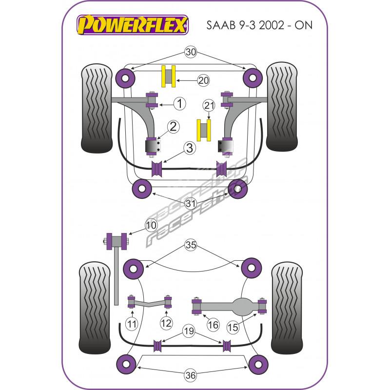 Powerflex Rear Lower Engine Mount Insert Diesel  Round