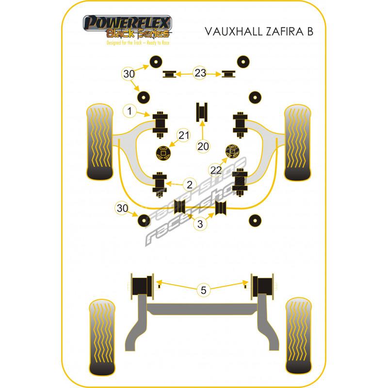 Vauxhall Opel Zafira B 2005-2011 Powerflex Gearbox Mount Insert PFF80-1321
