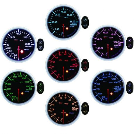Gauges DEPO PK series 52mm, 7 color Programmable DEPO racing gauge Electric boost -1 to 2bar, 7 Color | races-shop.com