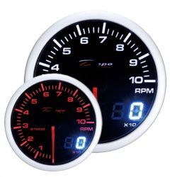 DEPO racing gauge Tachometer - Dual view series