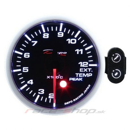 Gauges DEPO PK series 52mm Programmable DEPO racing gauge Exhaust gas temp | races-shop.com