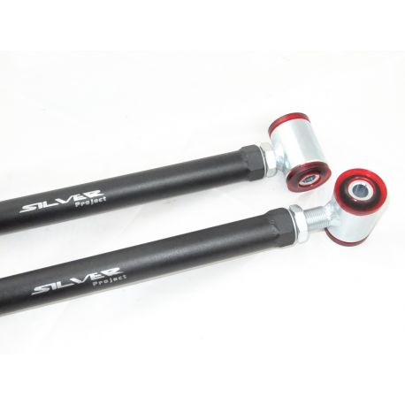 370Z SILVER PROJECT Adjustable Rear Arms for NISSAN 370Z / G37 / GTR R35 (TOE - BUCKET DELETE) | races-shop.com