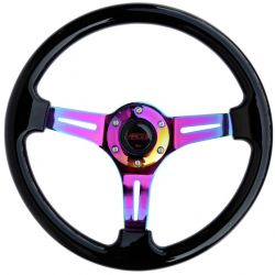 Steering wheel RACES NEO Piano, 350mm, silicone, 47mm deep dish