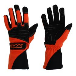 Racing driving gloves - RACES Classic EVO orange