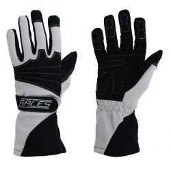 Racing driving gloves - RACES Classic EVO grey