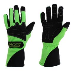 Racing driving gloves - RACES Classic EVO green