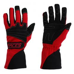 Racing driving gloves - RACES Classic EVO red