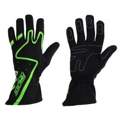 Racing driving gloves - RACES Premium green