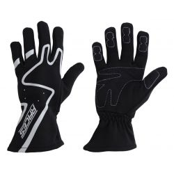 Racing driving gloves - RACES Premium grey