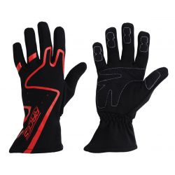 Racing driving gloves - RACES Premium red