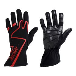 Racing driving gloves - RACES Premium Silicone red
