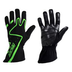 Racing driving gloves - RACES Premium Silicone green