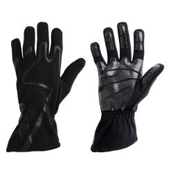 Racing driving gloves - RACES Premium Silicone black