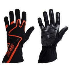 Racing driving gloves - RACES Premium Silicone orange