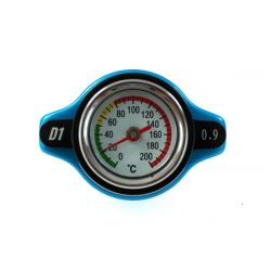 Radiator cap D1spec 0,9BAR 15mm with thermometer