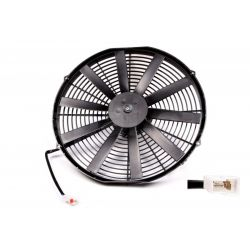 Universal electric fan SPAL 385mm - suction, 12V