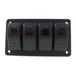 Universal rocker switch panel with LED