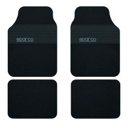 Sparco Corsa car floor mats -fabric (tire tread)