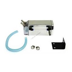 Oil catch tank with two outputs - capacity 0,75l