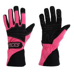 Racing driving gloves - RACES Classic EVO pink