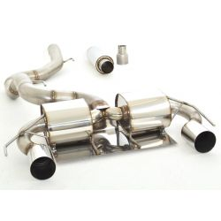 90mm Duplex exhaust system (stainless steel) - ECE approval