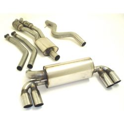 2x 63.5mm Duplex exhaust system with 200CPSI kat. BMW 1er M-Coupe E82