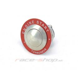 Start button stainless steel - set