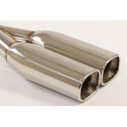 Exhaust tip 2x72x92mm